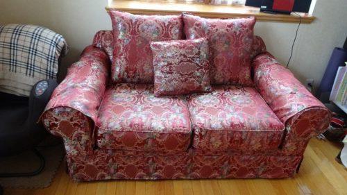 ソファーのカバーリング